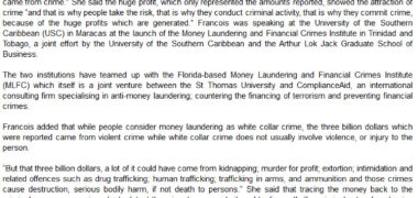 Anti-Money Laundering and Financial Crimes Institute – Preparing